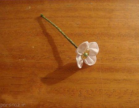 دوخت شکوفه روبانی را یاد بگیریم