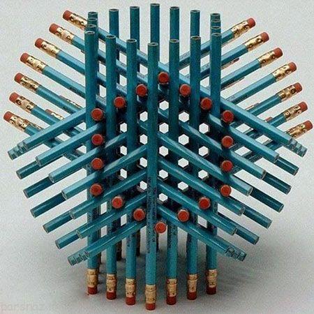 تست هوش تعداد مدادها را مشخص کنید