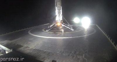 فرود آوردن موشک فضایی روی دریا توسط Space X