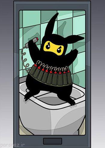 کاریکاتورهای جالب درباره بازی پوکمون گو (Pokemon GO)
