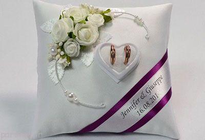 مدل های تزیین زیبای حلقه ازدواج روی کوسن