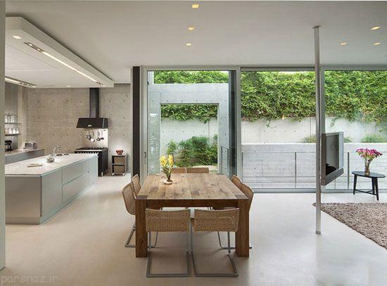 ستون های وسط خانه را به زیبایی تزیین کنید