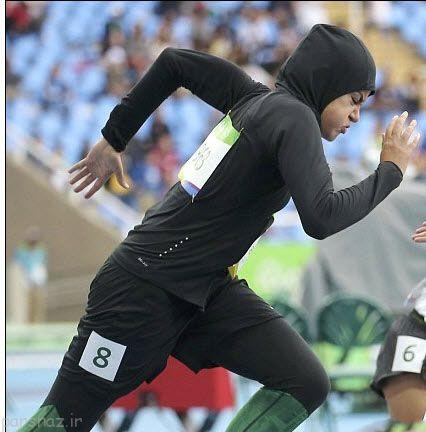 حجاب ورزشکار زن عربستان در اینترنت غوغا به پا کرد