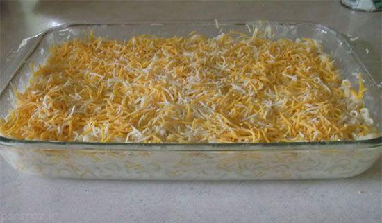 آموزش تهیه ماکارونی و پنیر خوش طعم
