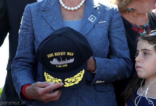 علامت همجنس گرایان روی کشتی نیروی دریایی