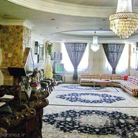 دکوراسیون اتاق پذیرایی به سبک ایرانی