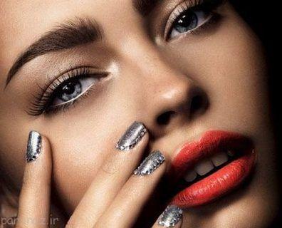 مدل های آرایش فانتزی جذاب با رنگ های تند