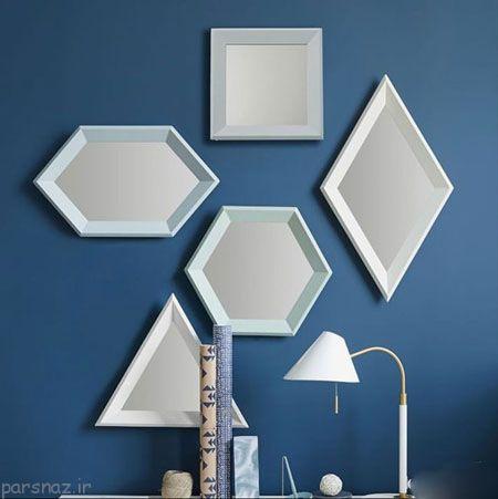 کاربرد آینه های هندسی در دکوراسیون