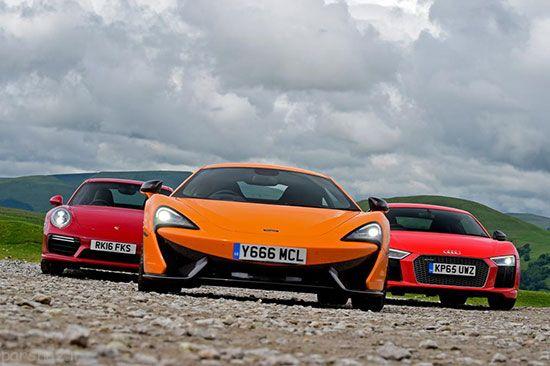قدرت نمایی سه خودرو پورشه آئودی و مک لارن