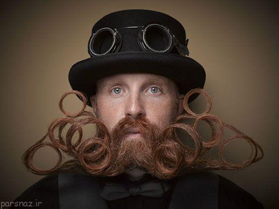 عکسهای خنده دار رقابت مردان ریش و سبیلی