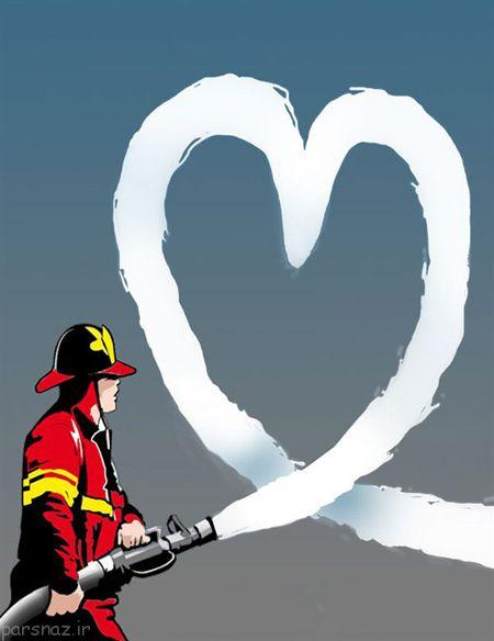 کاریکاتورهای زیبا برای بزرگداشت روز آتش نشان