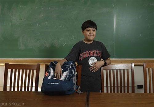 جرمی شولر 12 ساله دانشجوی کم سن و سال