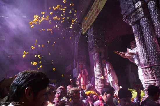 فستیوال رنگ هولی در هندوستان را ببینید