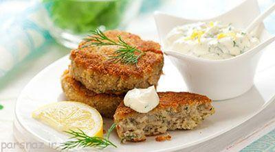 آموزش غذای دریایی کیک ماهی