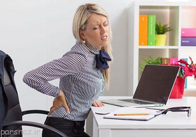 نشستن زیاد و عوارض آن روی بدن