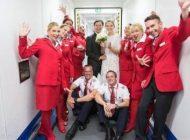 خواستگاری و ازدواج در هواپیما +عکس