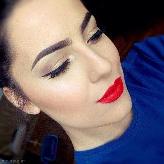 مدل میکاپ و آرایش صورت جذاب از Marija Krivic
