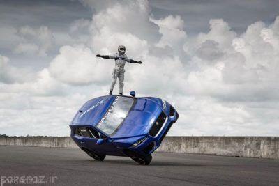عکس هایی از حرکات نمایشی این مرد با ماشین جگوار