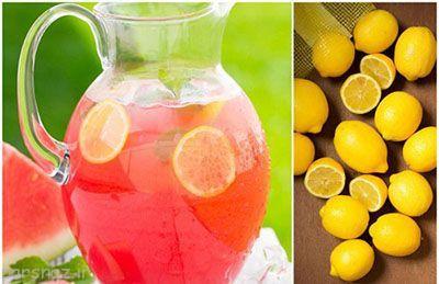 طرز تهیه لیموناد به همراه هندوانه