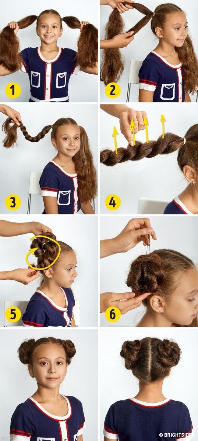 آموزش تصویری مدل بافت مو دخترانه