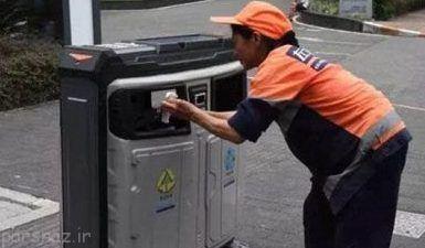 سطل زباله های هوشمند در کشور چین