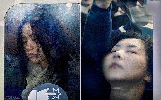 شغل عجیب در متروهای شلوغ ژاپن به روایت تصویر