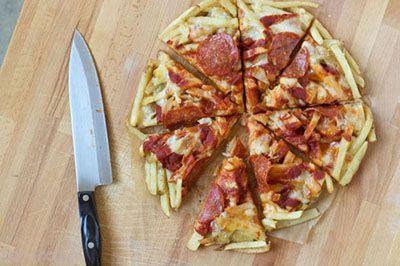 با سیب زمینی سرخ کرده پیتزا درست کنید