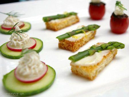 طرز تهیه لقمه سبزیجات برای مهمانی ها