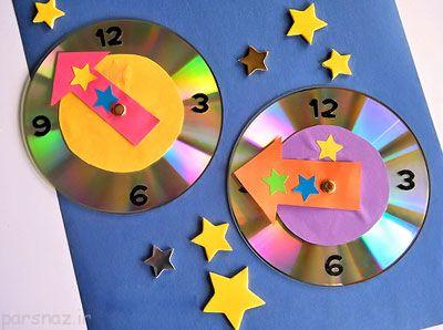 با سی دی اشکال زیبا درست کنید هنر در خانه