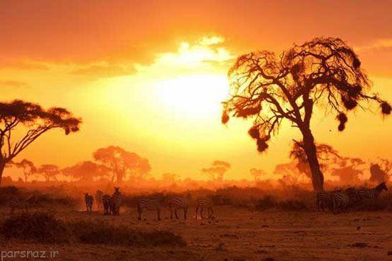 غروب آفتاب در این مکان ها رویایی است