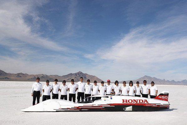 خودروی هوندا رکورد سرعت را شکست