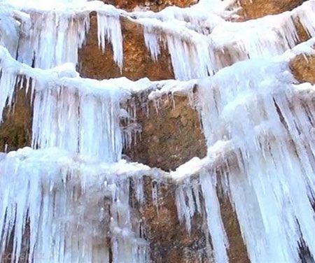 یخ های میله ای در یاسوج را ببینید