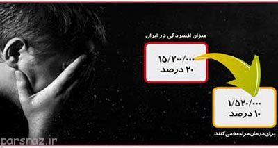12 درصد مردم ایران دچار افسردگی هستند