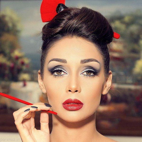 عکسهای مدل آرایش صورت به سبک ایرانی