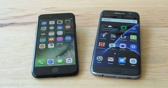 مزیت های گوشی آیفون 7 به گلکسی اس 7