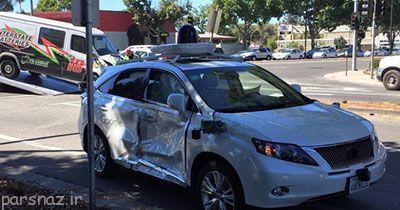 خودروی هوشمند گوگل دچار تصادف شد