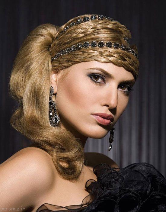 زیباترین مدل های شینیون مو + مدل آرایش صورت