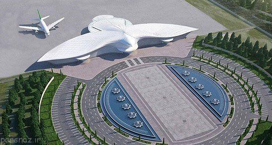 آشنایی با فرودگاه زیبای ترکمنستان