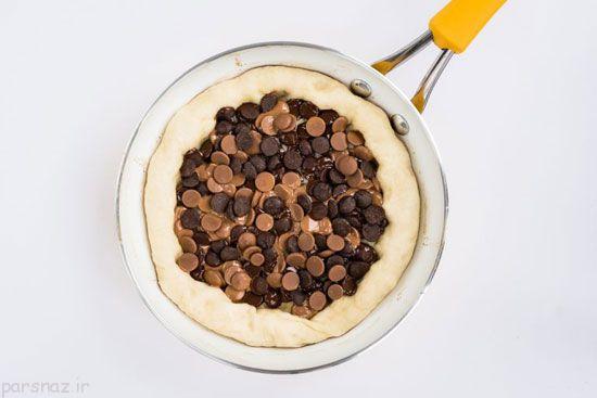 با هم پیتزای شکلاتی درست کنیم