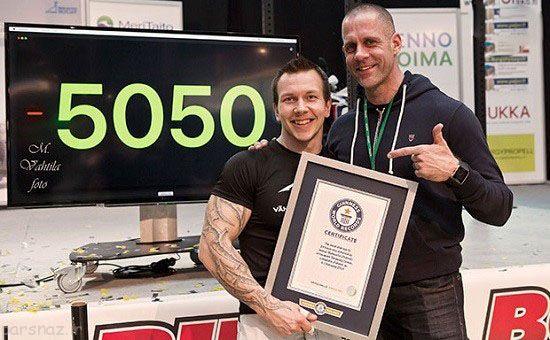رکوردهای عجیب و خارق العاده ثبت شده در گینس
