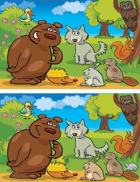 تفاوت ها را بیابید تست هوش تصویری