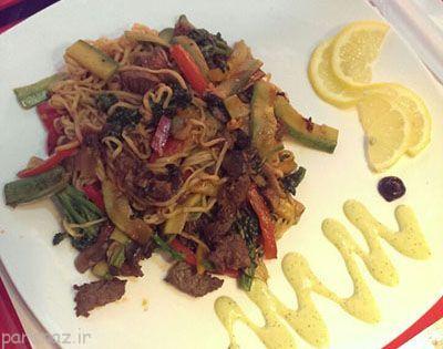 آموزش تهیه چامین گوشت غذای چینی