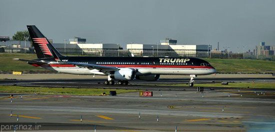 مقایسه هواپیمای کلینتون و ترامپ +عکس