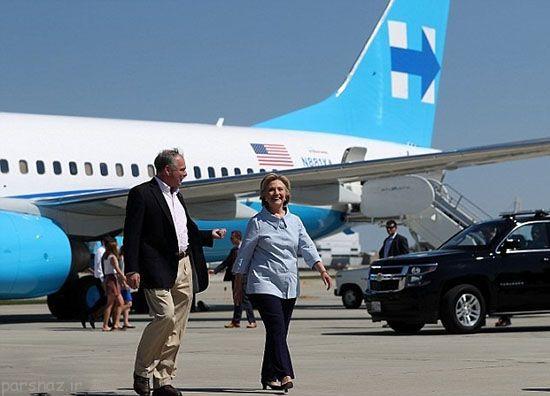 هواپیمای جدید هیلاری کلینتون را ببینید