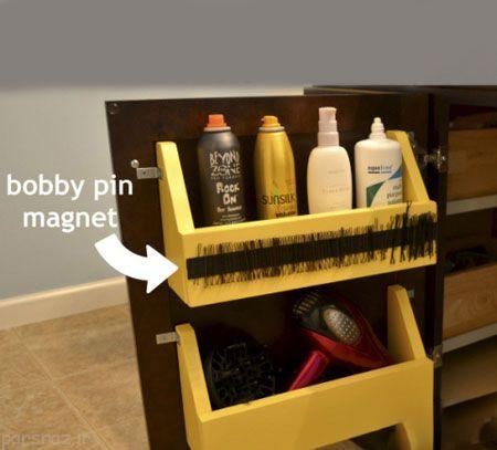 از قسمت داخلی در کابینت استفاده کنید