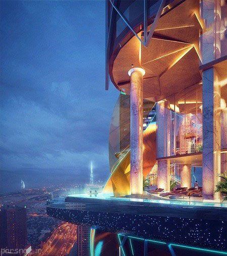 در دبی درون این هتل یک جنگل ساخته شده است
