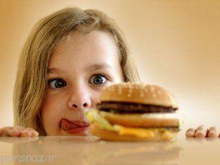 تمایل زیاد به غذا خوردن در کودکان