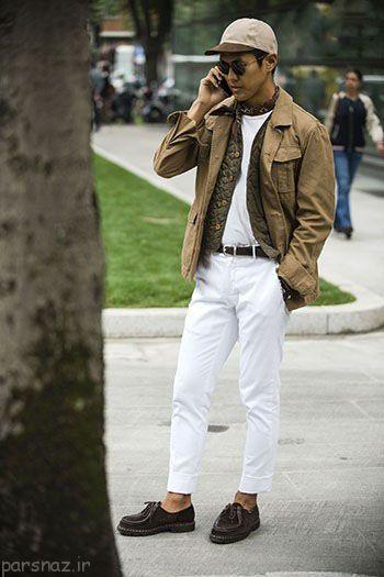 هفته مد میلان مدل لباس مردانه پاییزی