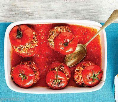 آموزش تهیه دلمه گوجه فرنگی ناهار عالی