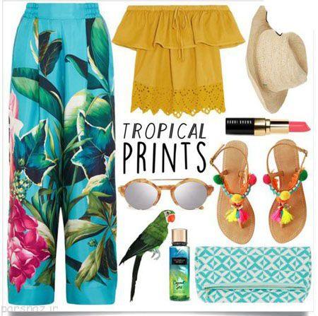 ست لباس زنانه هاوایی جدید و جذاب